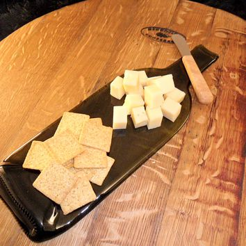 Flat Wine Bottle Cheese Tray