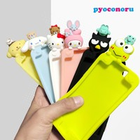 Sanrio 3D Cute Cartoon Soft Silicone Lie Prone Case Cover for iPhone X 8 7 6 6s