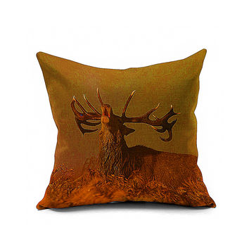 Cotton Flax Pillow Cushion Cover Animal   DW173