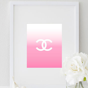 Coco Chanel Logo CC Chanel Art Chanel Perfume Wall Print Inspirational Fashion Office Decor Home Decor