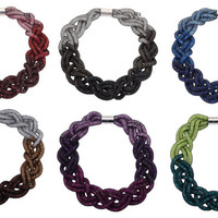 Crystal Choker Mesh Necklace You Choose Color