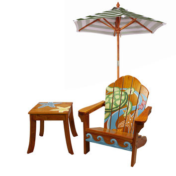 Winland - Sea Turtle Outdoor Table & Chair Set - KYW-11126A