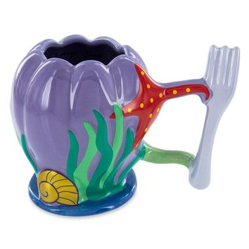 Disney Parks The Little Mermaid Ariel Dinglehopper Handle Ceramic Mug