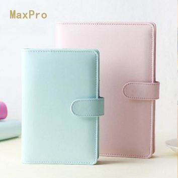 Macaron office personal organizer notebook , Cute spiral agenda planner notepad, leather binder travel journal for gift A5 A6