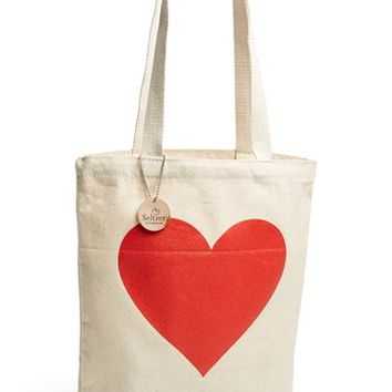 Junior Women's Seltzer Heart Print Tote