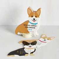 Critters Year of the Critter 2016 Calendar in Corgi by ModCloth