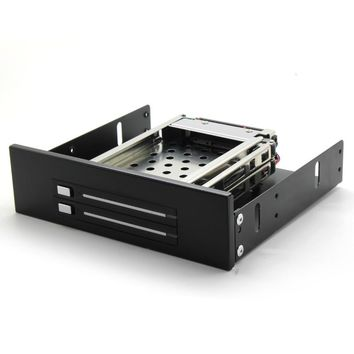 """In stock SATA HDD Mobile Rack internal 2 Bay 2.5"""" HDD Enclosure for CD DVD-ROM location free shipping"""