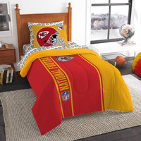 Kansas City Chiefs NFL Twin Comforter Bed in a Bag (Soft & Cozy) (64in x 86in)