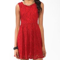 Bow Back Lace Dress