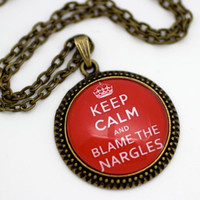 Luna Lovegood, Keep Calm and Blame the Nargles, Harry Potter Necklace