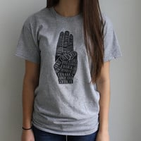 Hunger Games Inspired Three-Finger Salute T-shirt