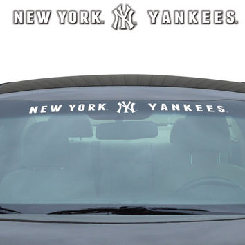 "New York Yankees 35""x4"" Windshield Decal"