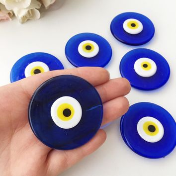 Blue evil eye magnet | glass evil eye bead | wedding favors for guest | nazar boncuk