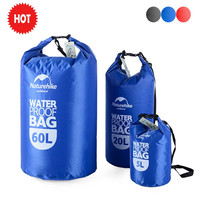 Naturehike New Portable Swimming Storage Dry Bag Sack 60L 20L 5L Waterproof Bag for Canoe Kayak Rafting Camping Traveling