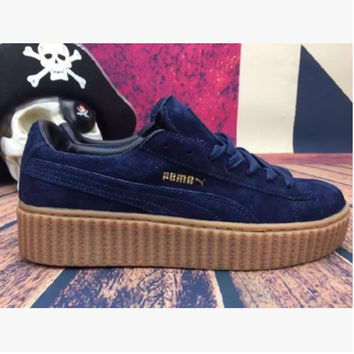 PUMA Women Casual Running Sport Shoes Sneakers Dark blue