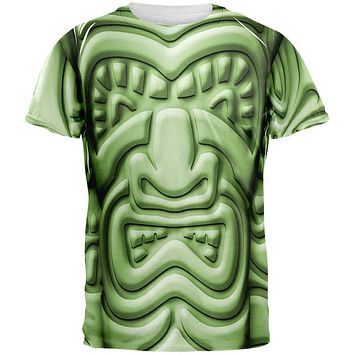 Tiki God Green Face Luau All Over Mens T Shirt