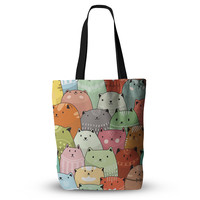 """Snap Studio """"Kitty Attack"""" Cat Illustration Everything Tote Bag"""