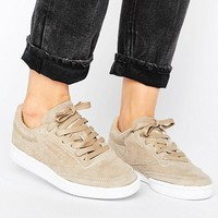 Reebok Club C 85 Lst Trainers In Sand Suede at asos.com