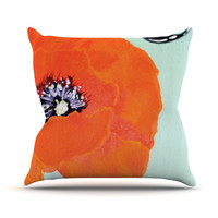"Christen Treat ""Vintage Poppy"" Outdoor Throw Pillow, 26"" x 26"" - Outlet Item"