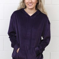 Soft Plush Hoodie {Deep Purple}