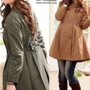 2016 Autumn High Fashion Street Women's Classic Single Breasted Trench Coat Business Waterproof Raincoat Office Lady Outerwear