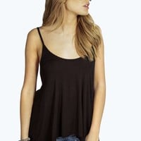 Francesca Split Back Dip Hem Cami