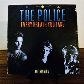 "Vintage 1986 The Police ""Every Breath You Take"" (The Singles) Vinyl LP Album  Released by A&M Records / The Police Greatest Hits / Sting"