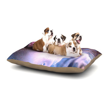 "Infinite Spray Art ""Space Tube"" Pink Purple Dog Bed"