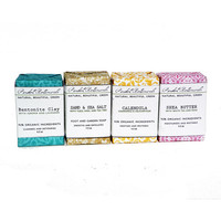 Any Four Soaps - Organic.  100% Natural.  Handmade.  Vegan Soaps.