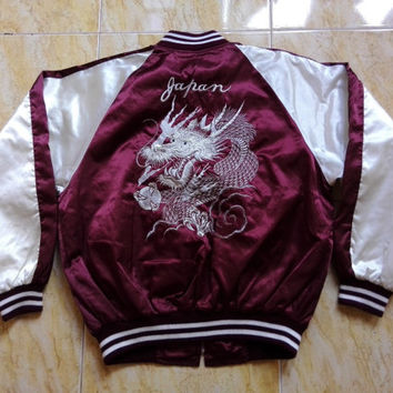 25%Sale!!! Vintage Sukajan Dragon Embroidery Souvenir Japan Jacket