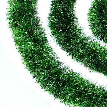 Artificial Christmas Garland - 12ft - Green Tinsel