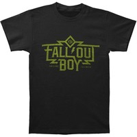 Fall Out Boy Men's  Machine Slim Fit T-shirt Black Rockabilia