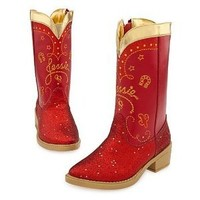 Disney Store Deluxe Toy Story Jessie the Cowgirl Red Sparkle Cowboy Boots 2 3