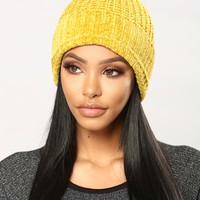 Maybe Some Other Time Beanie - Mustard