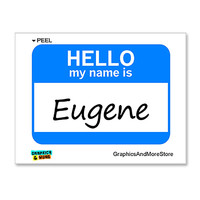 Eugene Hello My Name Is Sticker