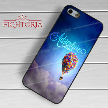 Disney up Carl and Ellie flying house adventure quote -stle for iPhone 6S case, iPhone 5s case, iPhone 6 case, iPhone 4S, Samsung S6 Edge