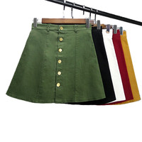 Vintage Style A line Mini Skirts 2 Styles, 5 Colors