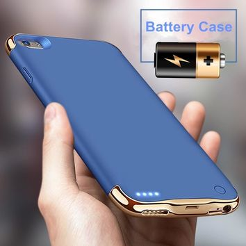 For iPhone 8 Plus iPhone X Travel Portable Mobile Power Bank Backup Battery for Iphone 7 7 Plus Luxury Fashion Emergency Baby Charger Fast Charging Phone Protective Case for Iphone 6 6s Plus