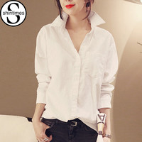 Chemise Femme Womens Tops Fashion 2017 Winter Blouse Long Sleeve White Shirt Women Blouses Office Shirts Korean Blusas Femininas