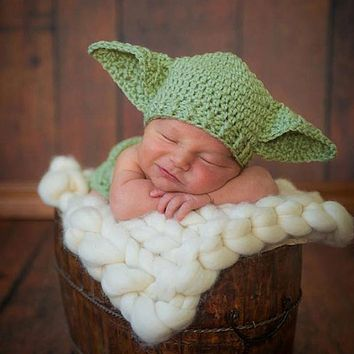 Handmade Knitted Baby Star Wars Yoda hat