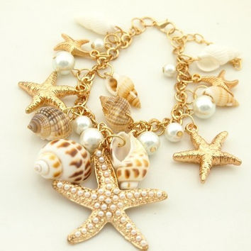 Hot Sale New Arrival Awesome Great Deal Shiny Gift Korean Star Stylish Sea Bangle Bracelet [6044209601]
