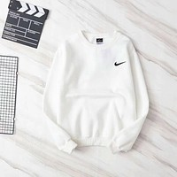NIKE Lover Woman Men Fashion Round Neck Top Sweater Pullover