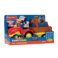 Fisher-Price Little People Lil' Movers Tow 'n Pull Tractor (Hay)