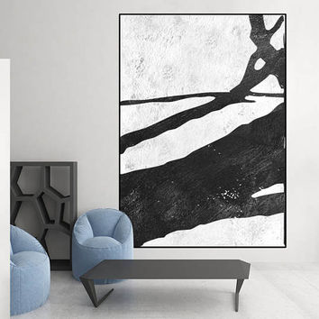 Acrylic painting, original painting, large art black and white canvas painting, canvas art,  acrylic painting, Contemporary Painting