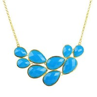 Bubble Jewelry Drop Shape Necklace Cluster Necklace (Fn0564)