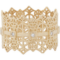 Gold Lace Crown Ring