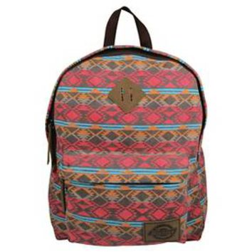 Dickies® Printed Classic Canvas Backpack with Front Zip Pocket - Tribal Stripe