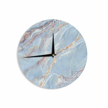 Blue Marble - Blue Gold Geological Photography Wall Clock