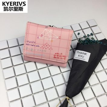 KYERIVS Brand New Cute Wallet Female Pu Leather Wallet Multifunction Small Purse Women Money Coin Purse Women Wallets 2017