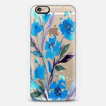 POCKETFUL OF POSIES Blue Violet Purple, Floral Watercolor Painting Flowers Colorful Art Girly Pretty Spring Summer Garden Whimsical Serenity Eggplant Transparent Chic Lovely Design iPhone 6s case by Ebi Emporium | Casetify